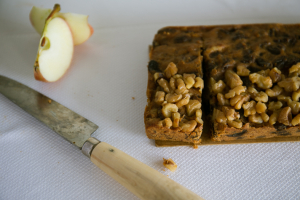 Apple and walnut slab