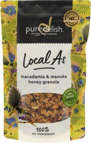 Macadamia & Manuka Honey Granola Local As
